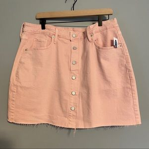 OLD NAVY plus size button front pink mini skirt